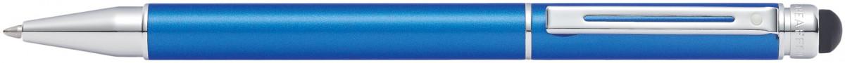 Sheaffer Switch Ballpoint Pen - Metallic Blue Chrome Trim