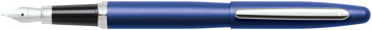 Sheaffer VFM Fountain Pen - Neon Blue Chrome Trim