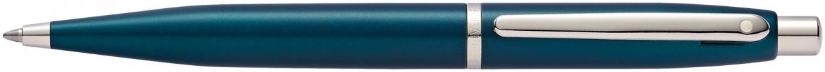 Sheaffer VFM Ballpoint Pen - Peacock Blue Chrome Trim