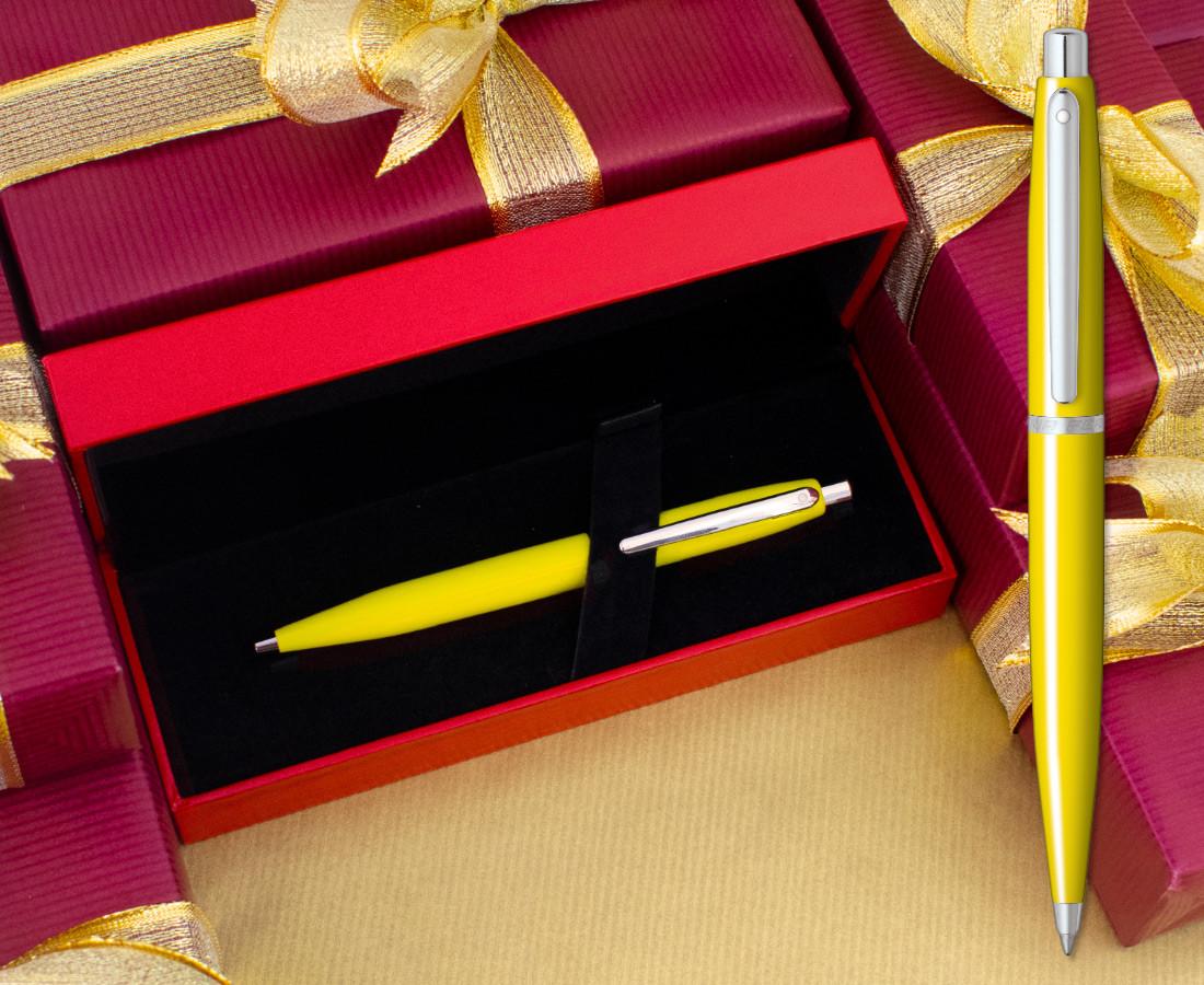 Sheaffer Ferrari VFM Ballpoint Pen - Gloss Yellow Chrome Trim