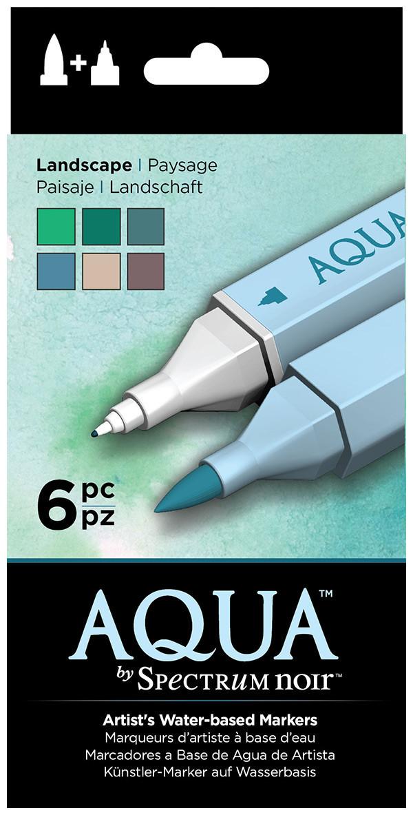 Spectrum Noir Aqua Watercolour Markers - Landscape (Pack of 6)