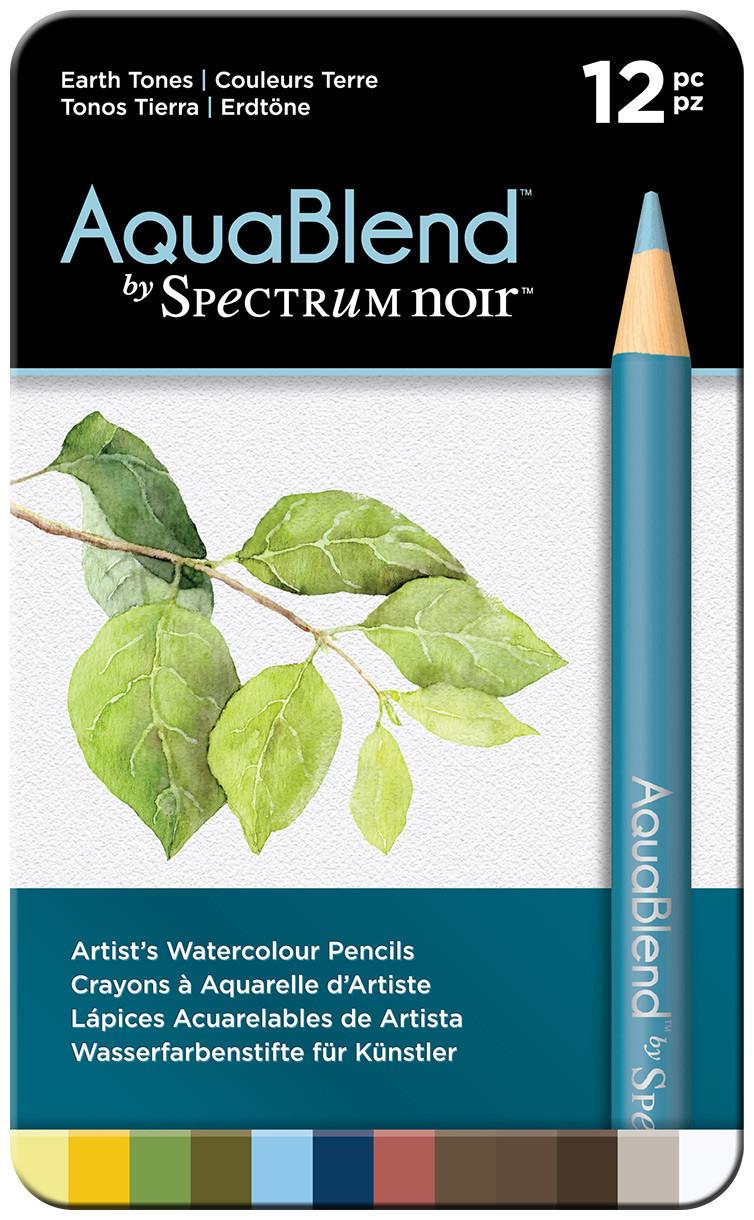 Spectrum Noir AquaBlend Watercolour Pencils - Earth Tones (Tin of 12)