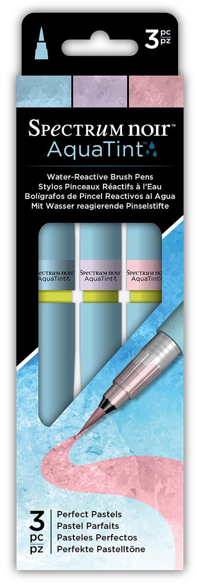 Spectrum Noir AquaTint Watercolour Markers - Perfect Pastels (Pack of 3)