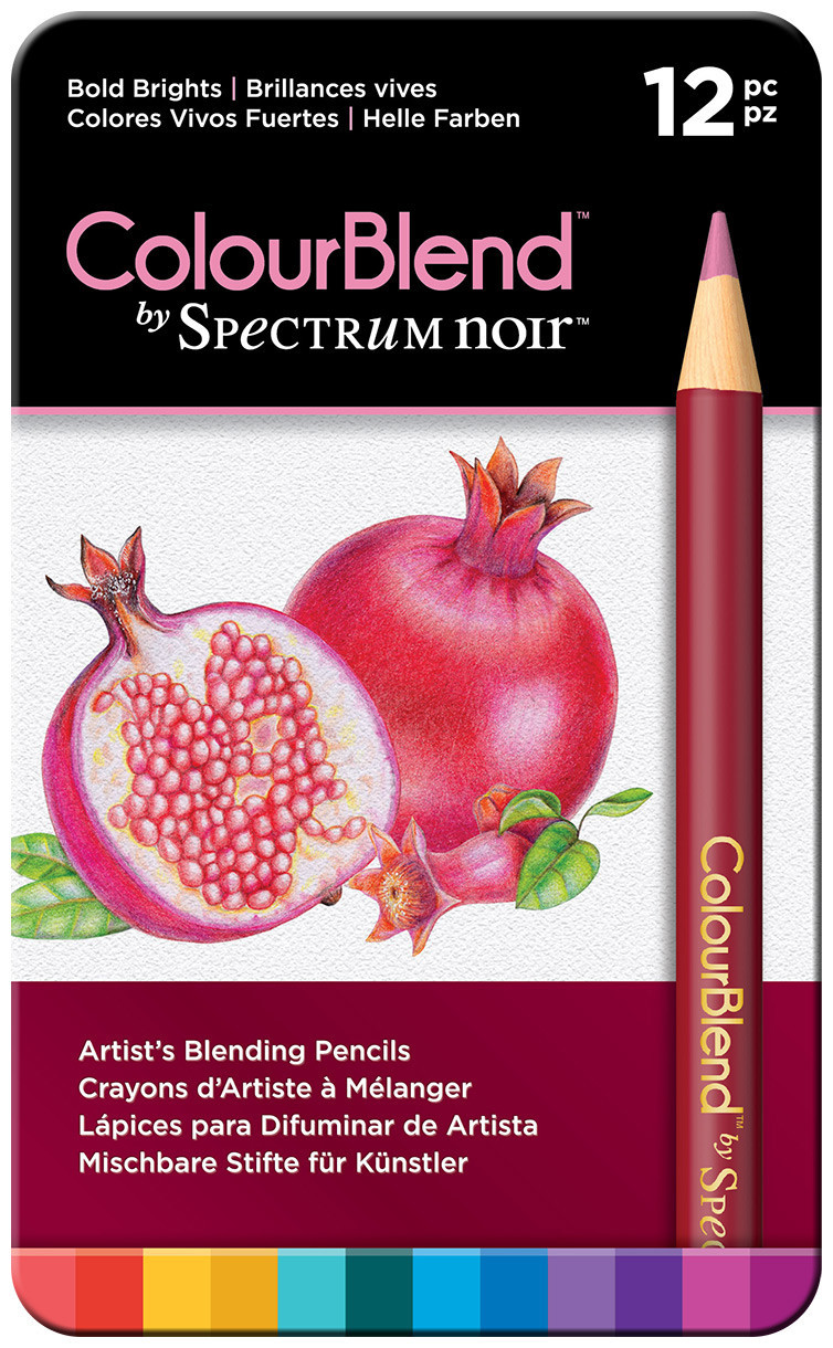 Spectrum Noir Colourblend Pencils - Bold Brights (Tin of 12)