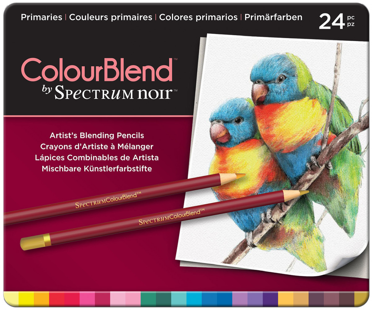 Spectrum Noir Colourblend Pencils - Primaries (Tin of 24)