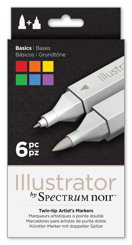 Spectrum Noir Illustrator Markers - Basics (Pack of 6)
