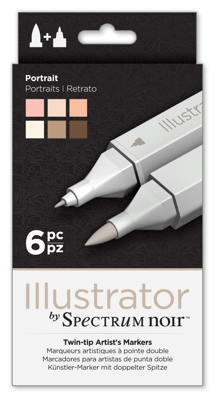 Spectrum Noir Illustrator Markers - Portrait (Pack of 6)
