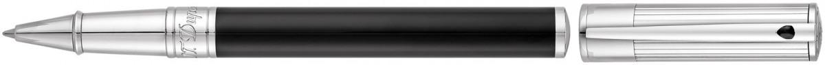 S.T. Dupont D-Initial Rollerball Pen - Duotone Black & Chrome