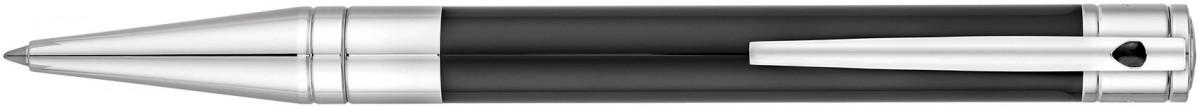S.T. Dupont D-Initial Ballpoint Pen - Black Lacquer Chrome Trim