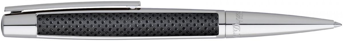 S.T. Dupont Defi Ballpoint Pen - Black Leather & Palladium