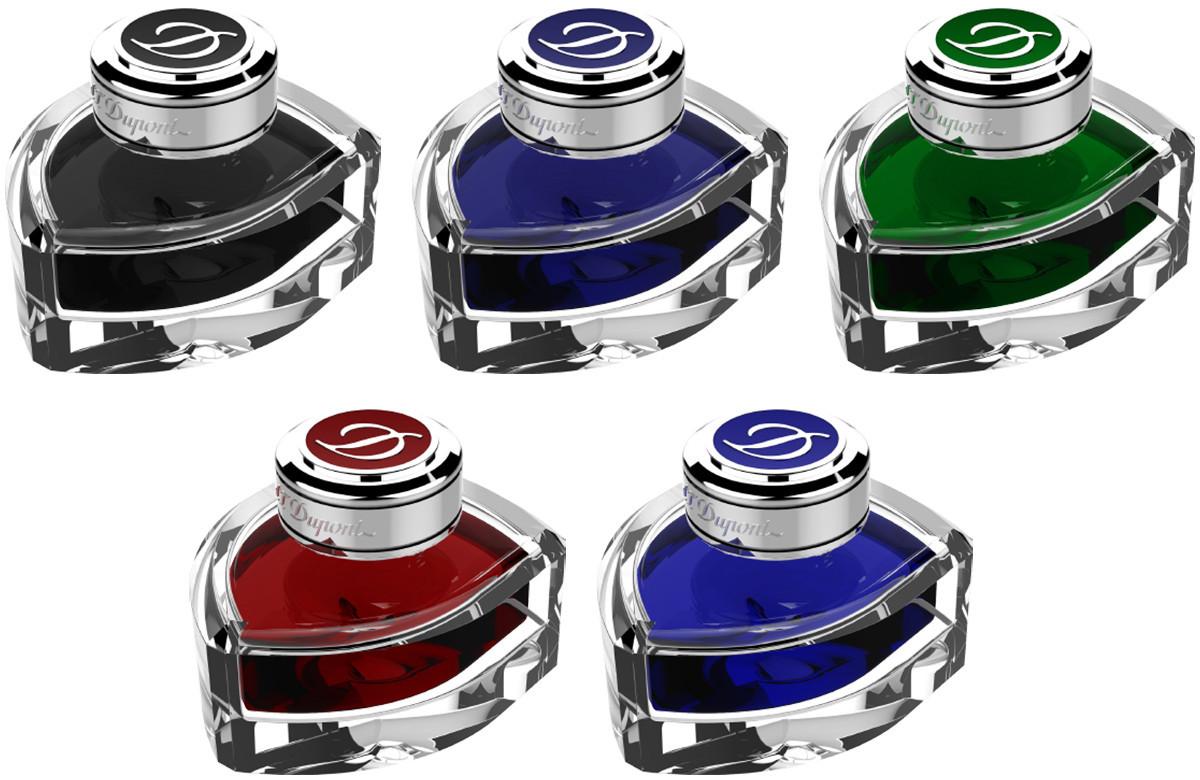 S.T. Dupont Ink Bottle Set - Assorted Colours (Set of 5)