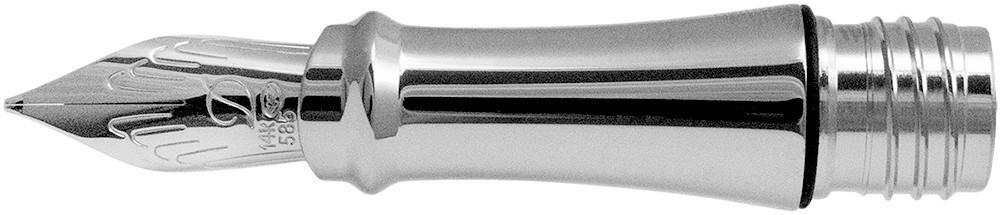 S.T. Dupont Liberté Nib - Solid 14K Gold Rhodium Plated