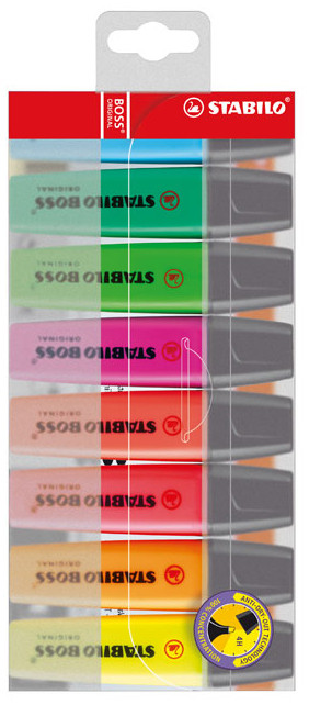 Stabilo BOSS Original Highlighter Pen - Assorted Colours (Pack of 8)