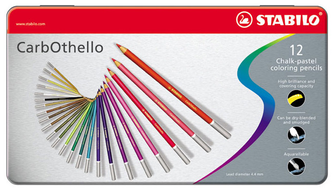 Stabilo Carbothello Colouring Pencils - Assorted Colours (Tin of 12)