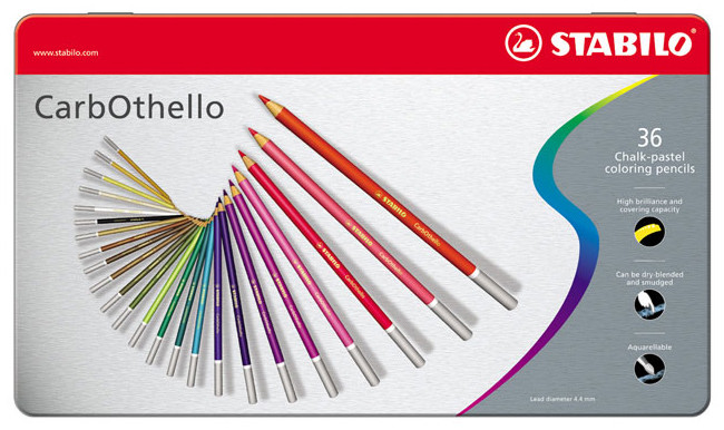 Stabilo Carbothello Colouring Pencils - Assorted Colours (Tin of 36)