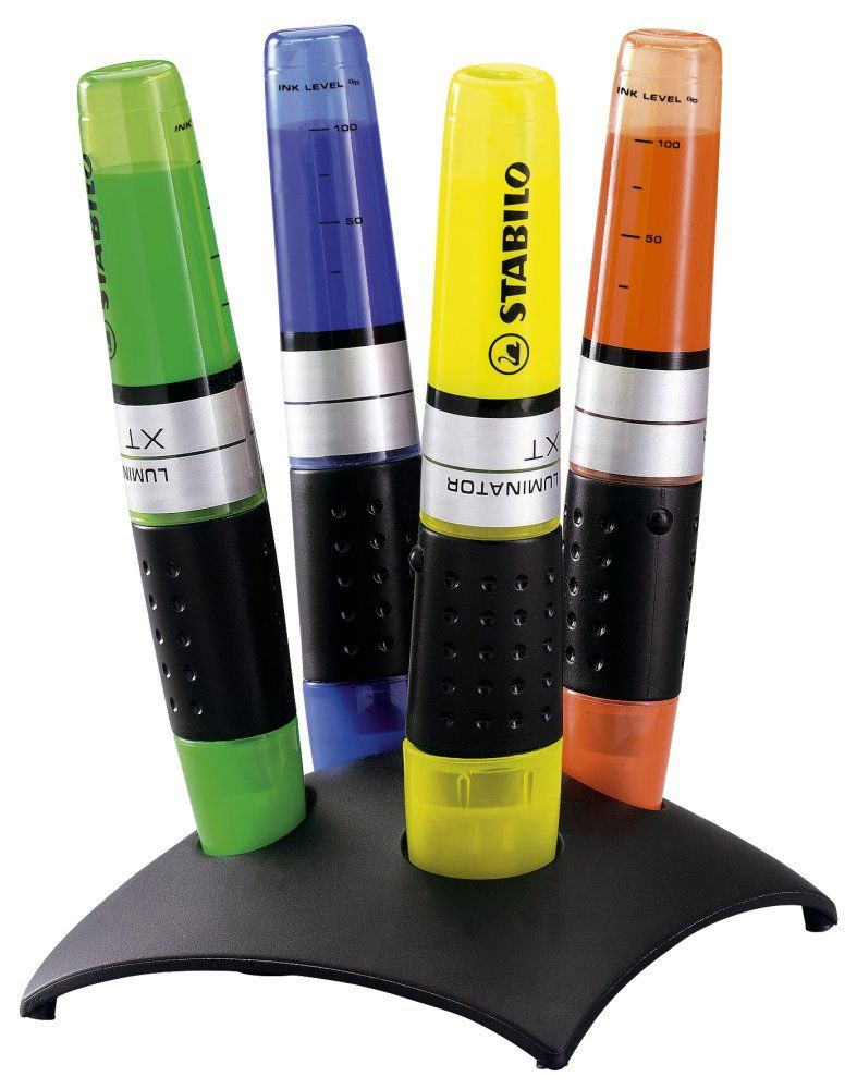 Stabilo Luminator Highlighter Pen - Assorted Colours (Desk Set of 4)