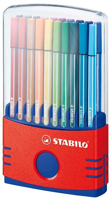 Stabilo Pen 68 Fibre Tip Pen - Assorted Colours (Colourparade of 20)
