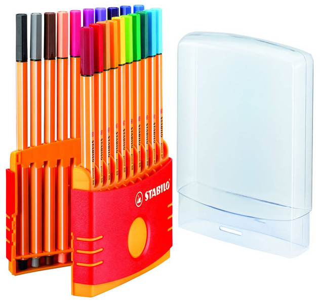 Stabilo point 88 Fineliner Pen - Assorted Colours (Colourparade of 20)