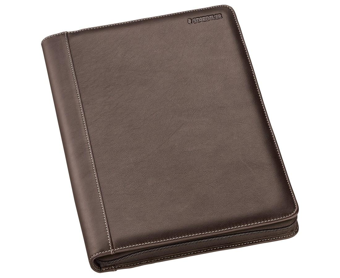 Staedtler Premium Leather Conference Folder - A4 Brown