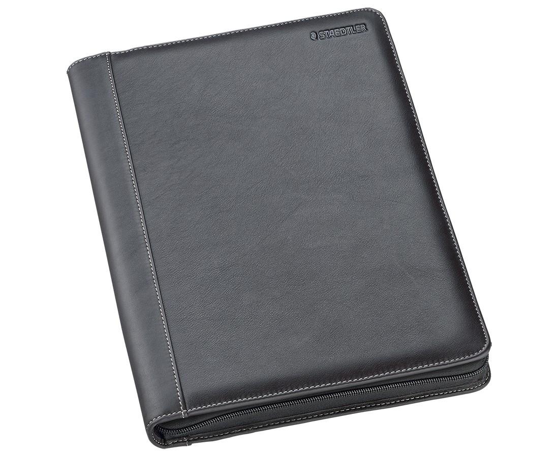 Staedtler Premium Leather Conference Folder - A4 Black