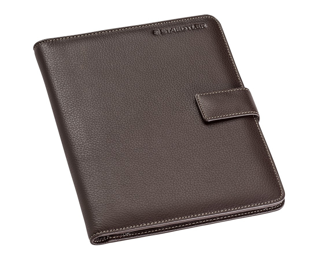 Staedtler Premium Leather Conference Folder - A5 Brown
