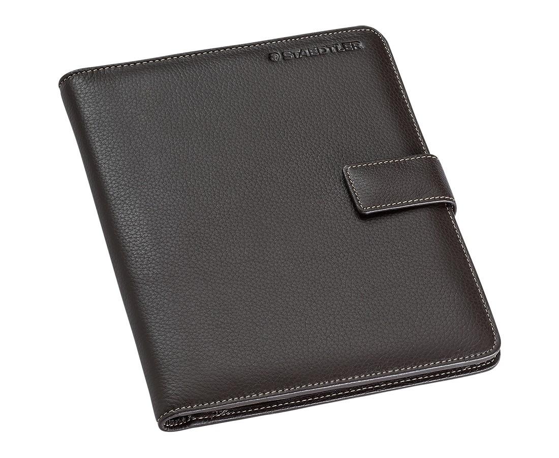 Staedtler Premium Leather Conference Folder - A5 Black