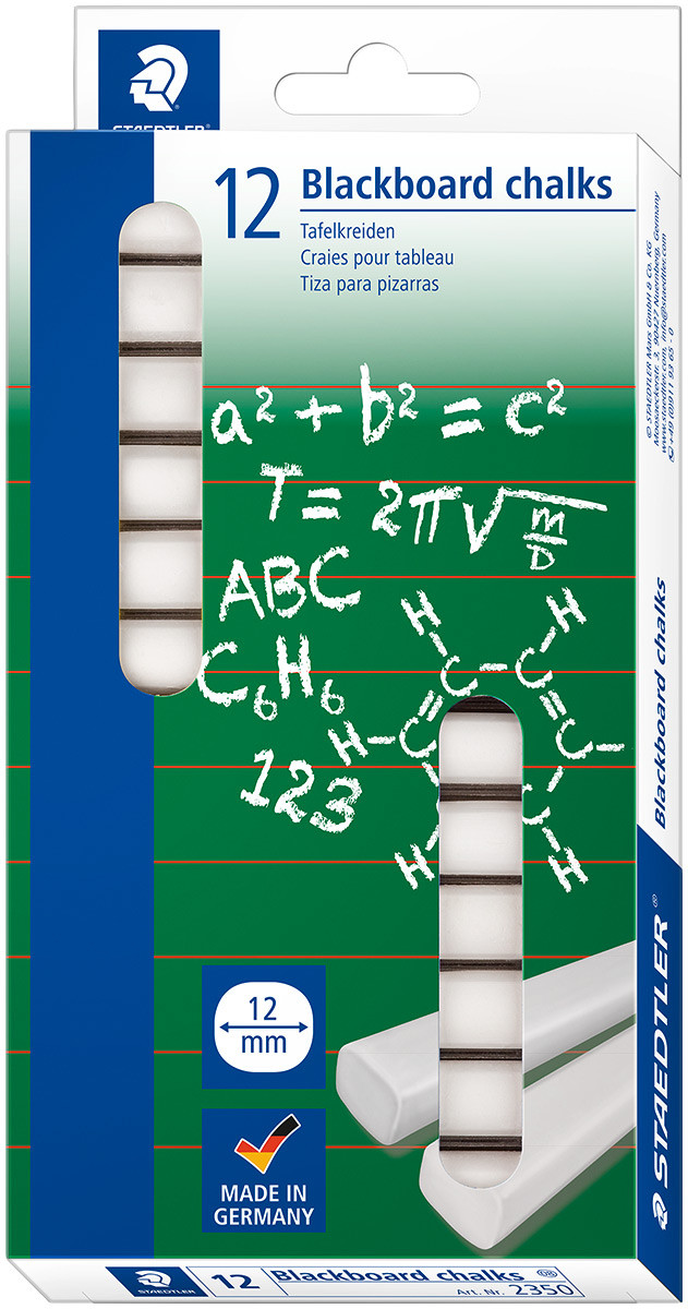 Staedtler Blackboard Chalks 12mm - White (Pack of 12)