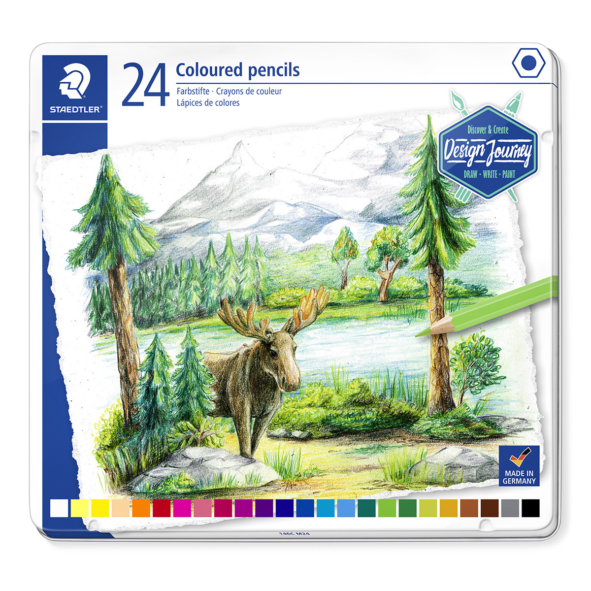 Staedtler Colouring Pencils - Assorted Colours (Tin of 24)