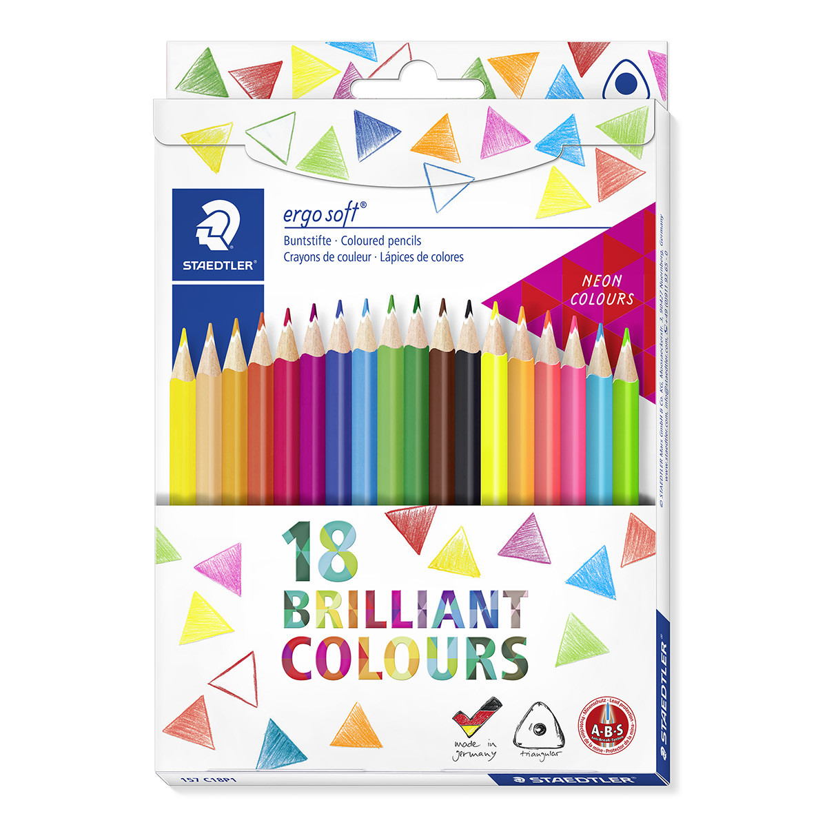 Staedtler Ergosoft Colouring Pencils - Assorted Colours (Pack of 18)