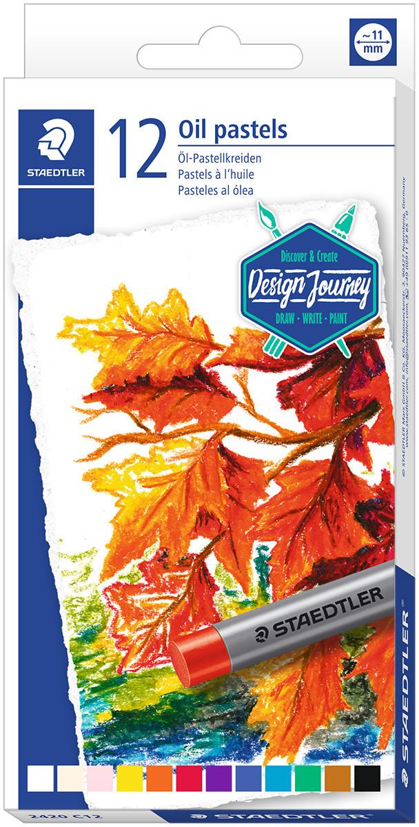 Staedtler Karat Oil Pastels - Assorted Colours (Tin of 12)