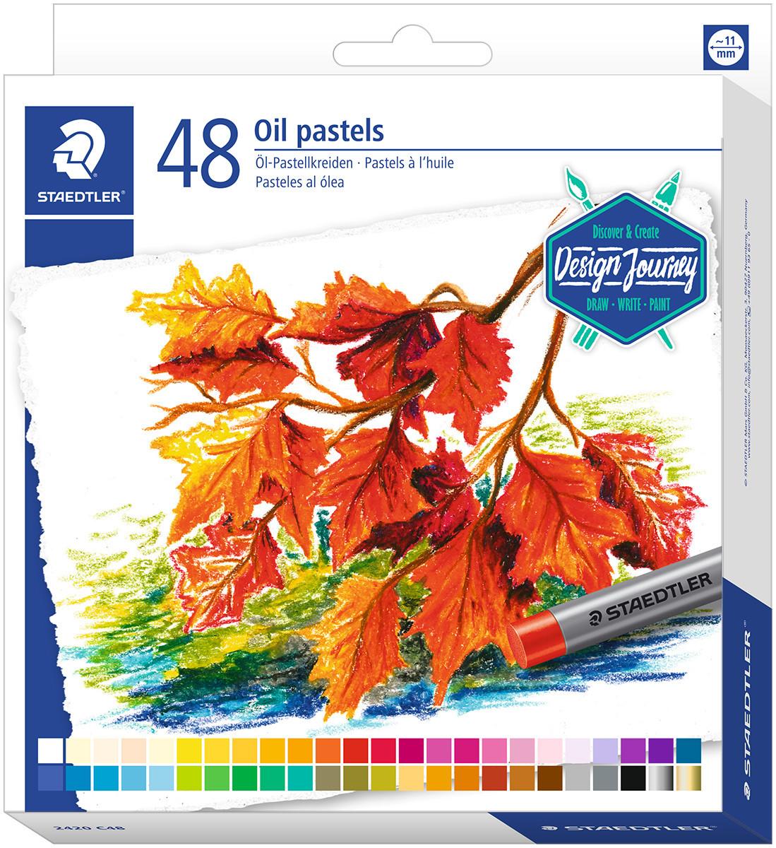 Staedtler Karat Oil Pastels - Assorted Colours (Pack of 48)