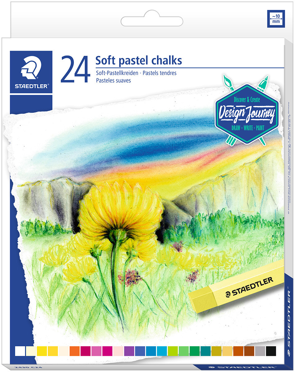 Staedtler Karat Soft Pastel Chalks - Assorted Colours (Pack of 24)