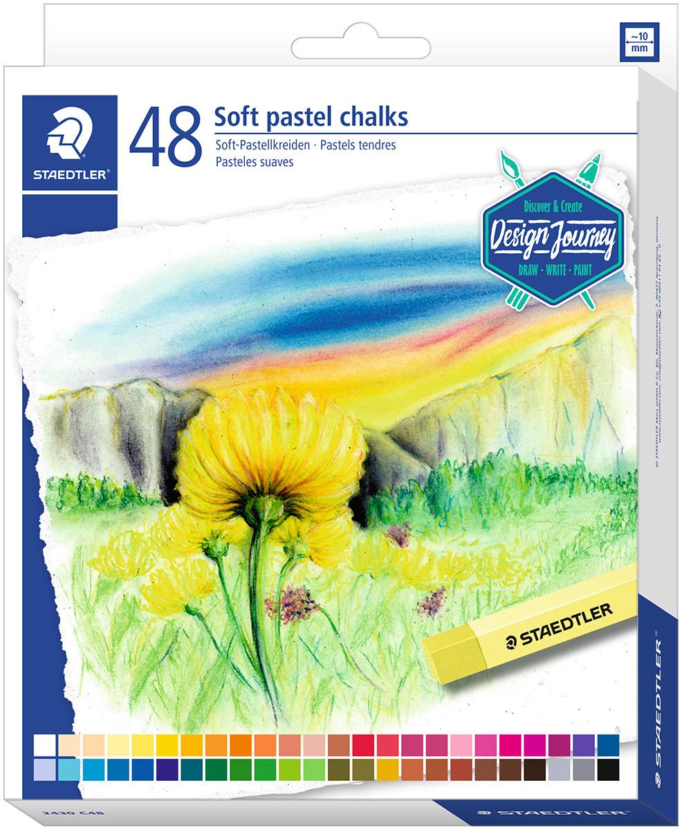 Staedtler Karat Soft Pastel Chalks - Assorted Colours (Pack of 48)