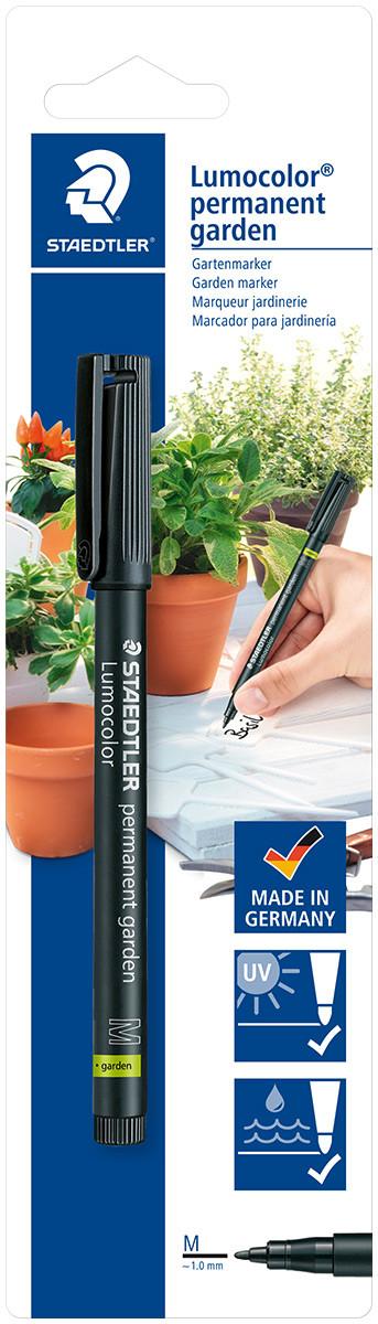 Staedtler Lumocolor Permanent Garden Marker - Medium - Black (Blister of 1)