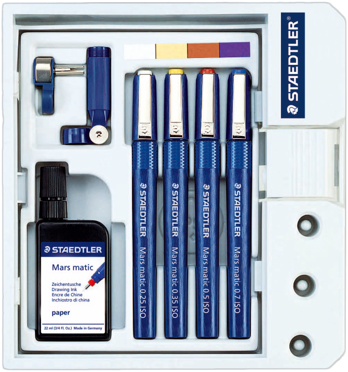 Staedtler Mars Matic Technical Pen Set - 0.25/0.35/0.5/0.7mm