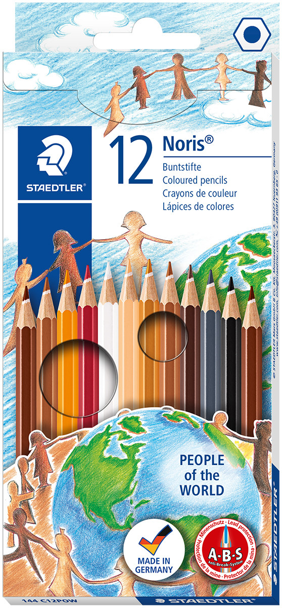 Staedtler Noris Club Colouring Pencils - People Of The World (Pack of 12)