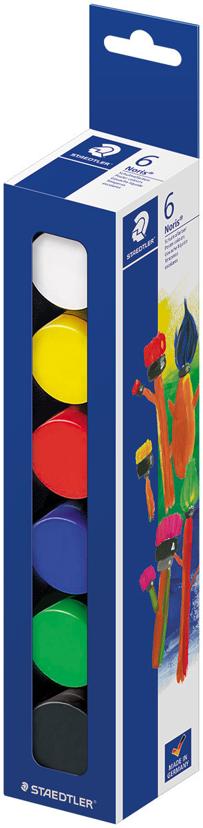 Staedtler Noris Club Poster Paints - Assorted Colours (Set of 6)