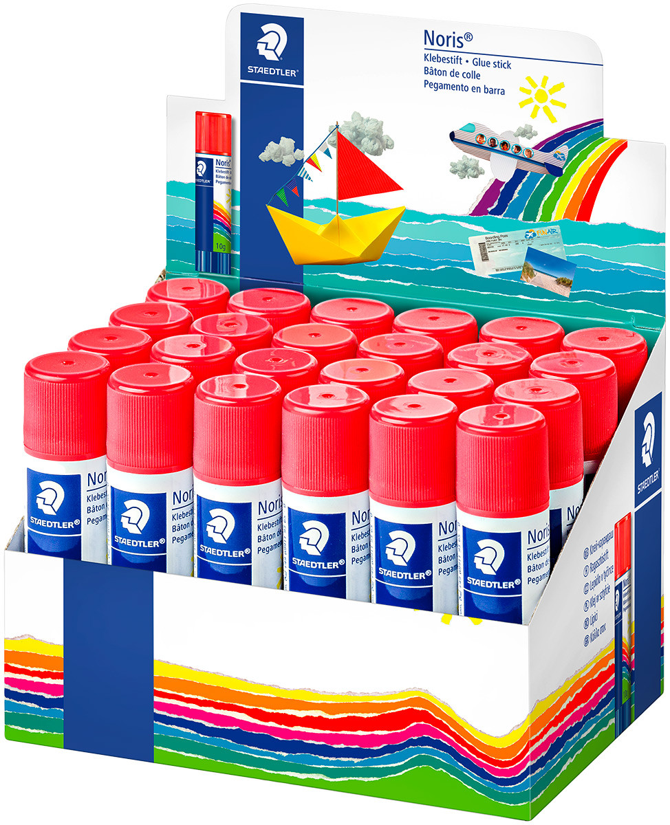 Staedtler Noris Club Glue Stick - 10g (Display Pack of 30)