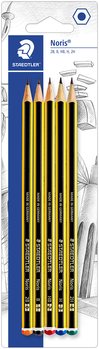 Staedtler Noris Pencil - Assorted Degrees (Blister of 5)