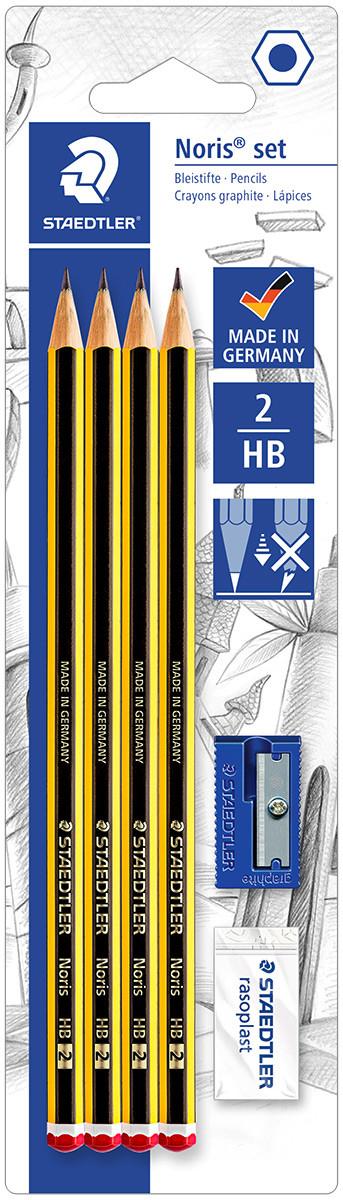 Staedtler Noris Pencil Set with Eraser & Sharpener