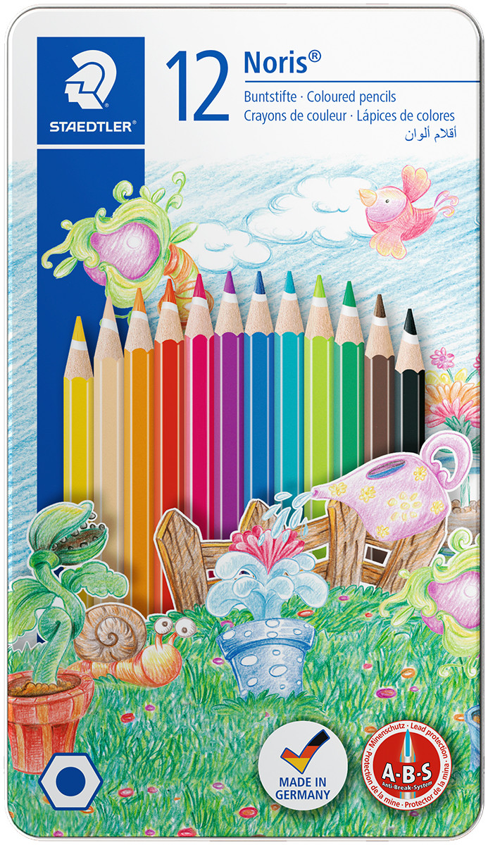 Staedtler Coloured Pencils  - Assorted Animal Colours (Tin of 12)