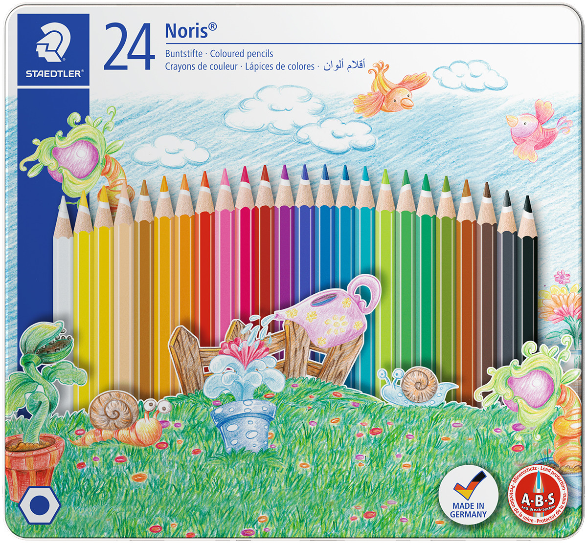 Staedtler Coloured Pencils  - Assorted Castle Colours (Tin of 24)