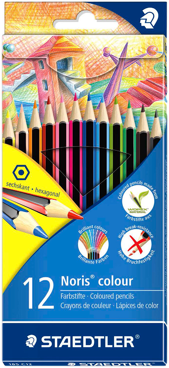 Staedtler Noris Colour Pencils - Assorted Colours (Pack of 12)