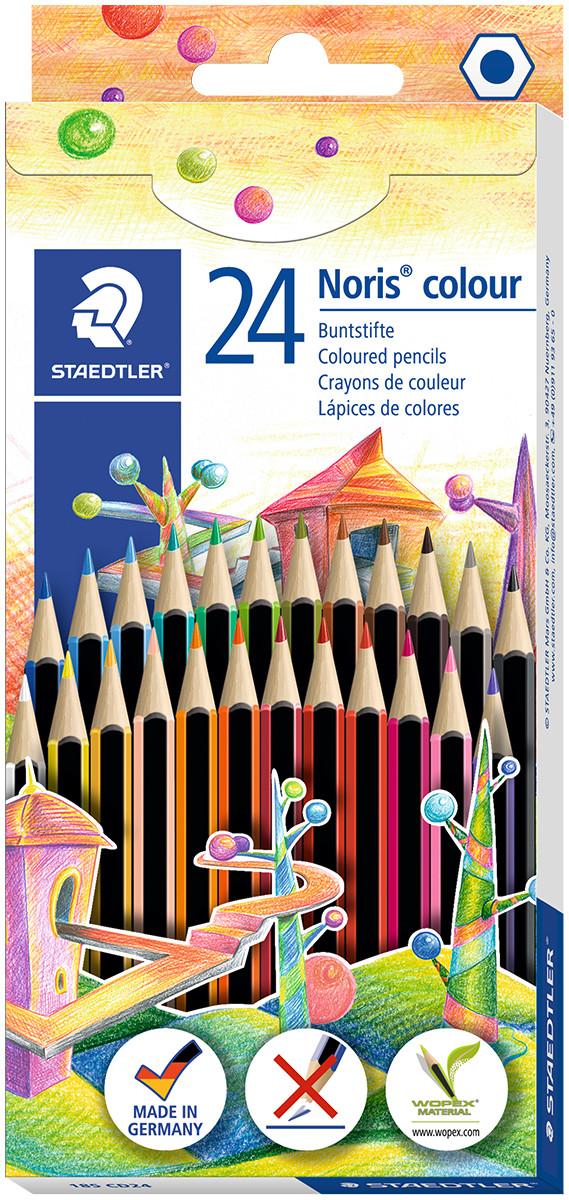 Staedtler Noris Colour Pencils - Assorted Colours (Pack of 24)