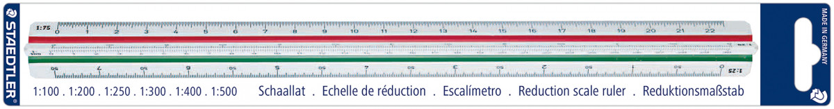 Staedtler Mars Reduction Scale Rule - Scale 4