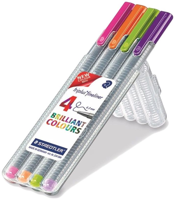 Staedtler Triplus Fineliner Pen - Trend Colours (Pack of 4)