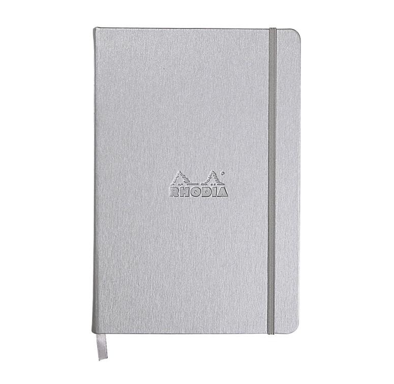 Rhodia Webnotebook- Medium Silver- Lined