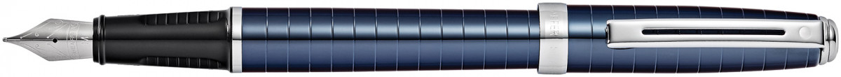 Sheaffer Prelude Fountain Pen - Cobalt Blue Chrome Rings