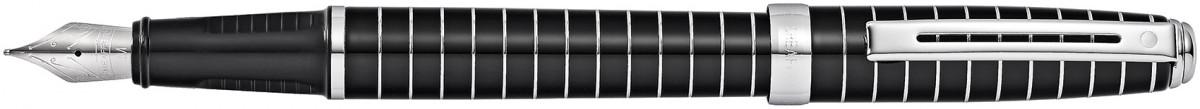 Sheaffer Prelude Fountain Pen - Black Lacquer Chrome Rings
