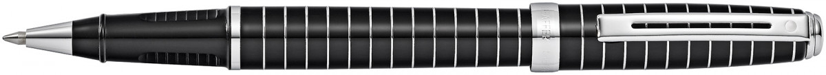 Sheaffer Prelude Rollerball Pen - Black Lacquer Chrome Rings